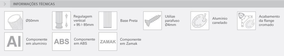 PERNA DE MESA COM SAIA - Ø50 MM